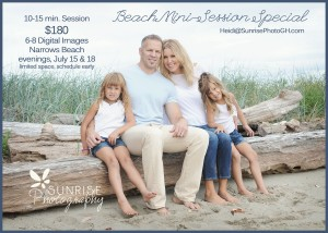 Beach Mini Session Sunrise Photography waterfront Gig Harbor family photographer