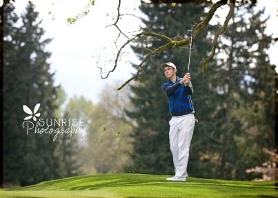 Sunrise Photography Gig Harbor Photographer Lakewood Tacoma Golf Country Club Senior Graduate Sports Scholarship Ping Nike (4b)